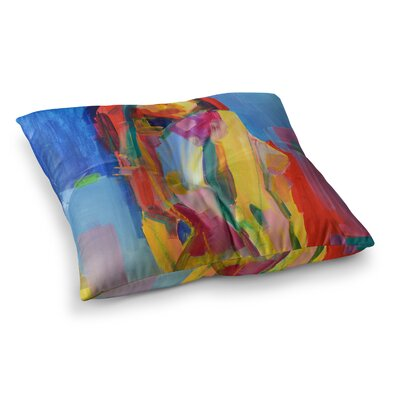 Violeta Painting by Cecibd Floor Pillow Size: 23 x 23