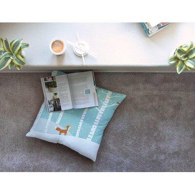 Fox Cardinals Winter Kids by Cristina bianco Design Floor Pillow Size: 26 x 26