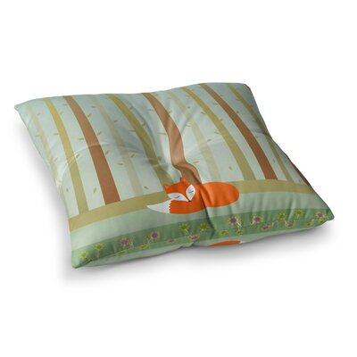 Sleeping Fox Illustration by Cristina bianco Design Floor Pillow Size: 23 x 23