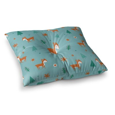 Cute Deer Pattern Kids by Cristina bianco Design Floor Pillow Size: 26 x 26