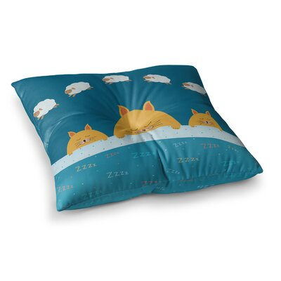 Sleeping Cats Zzzz Animals by Cristina bianco Design Floor Pillow Size: 26 x 26