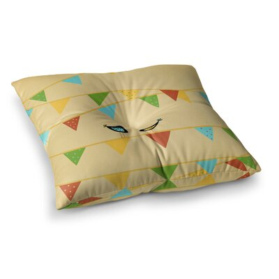 Birds Kids by Cristina Bianco Design Floor Pillow Size: 26 x 26