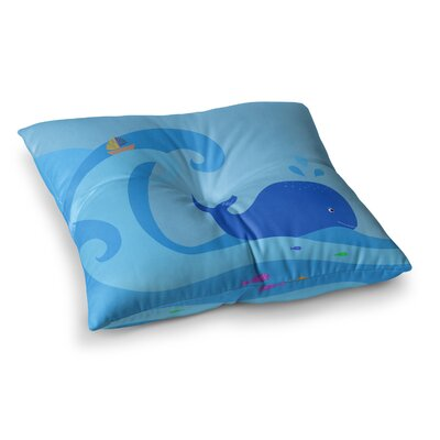Whale by Cristina Bianco Design Floor Pillow Size: 26 x 26