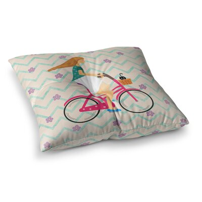 Bicycle Ride by Cristina Bianco Design Floor Pillow Size: 23 x 23