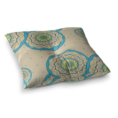 Mandala Design Illustration by Cristina Bianco Design Floor Pillow Size: 23 x 23, Color: Blue