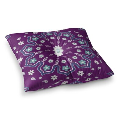 Mandala Illustration by Cristina Bianco Design Floor Pillow Size: 26 x 26