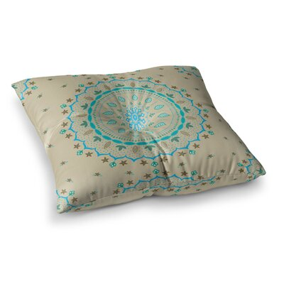 Mandala Painting by Cristina Bianco Design Floor Pillow Size: 23 x 23