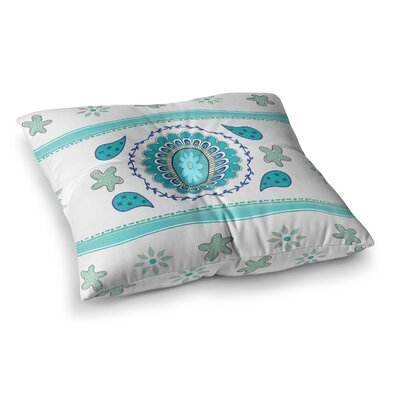 Mandala Design Painting by Cristina Bianco Design Floor Pillow Size: 23 x 23, Color: Pink