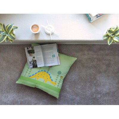 Cute Dinosaur Illustration by Cristina Bianco Design Floor Pillow Size: 26 x 26