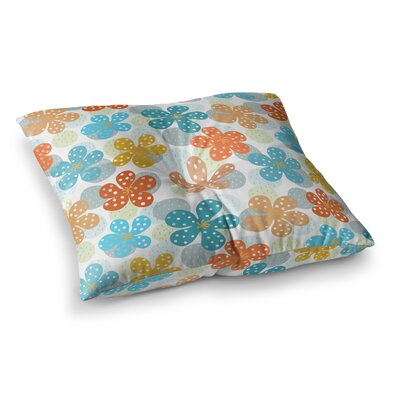 Floral - Pattern Illustration by Cristina Bianco Design Floor Pillow Size: 26 x 26