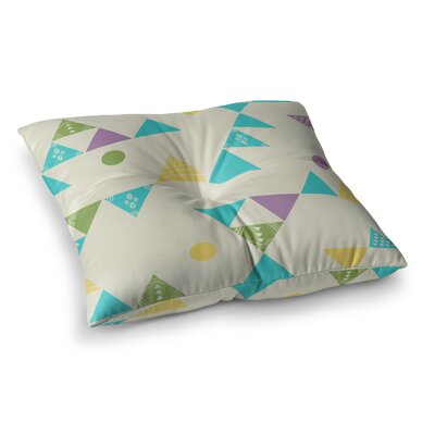 Colorful Triangles Illustration by Cristina Bianco Design Floor Pillow Size: 23 x 23