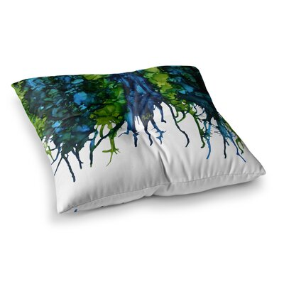 Drops by Claire Day Floor Pillow Size: 26 x 26