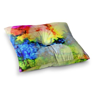 Clairefied Paint by Claire Day Floor Pillow Size: 26 x 26