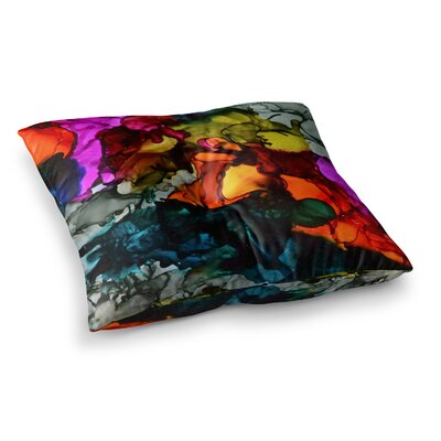 Hippie Love Child by Claire Day Floor Pillow Size: 26 x 26