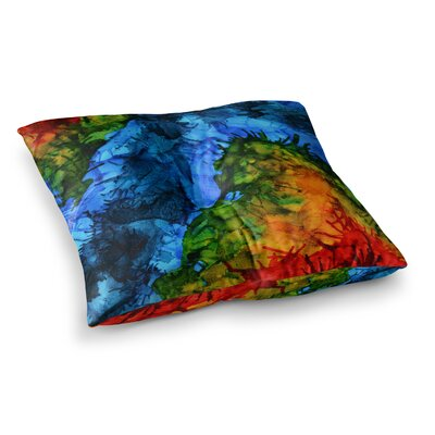 Flow by Claire Day Floor Pillow Size: 23 x 23