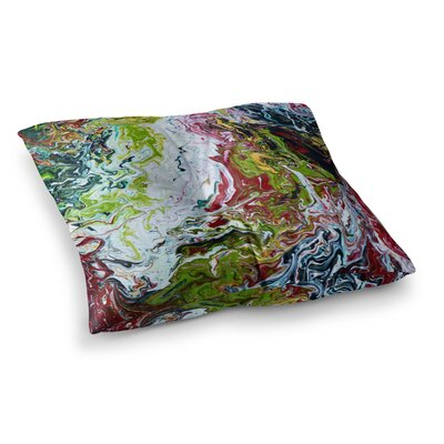 Chaos by Claire Day Floor Pillow Size: 23 x 23