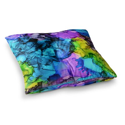 Mermaids Paint by Claire Day Floor Pillow Size: 26 x 26