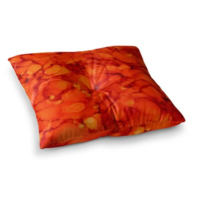 Orange by Claire Day Floor Pillow Size: 26 x 26