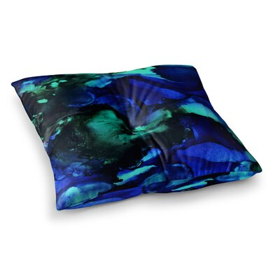 Neptune Painting by Claire Day Floor Pillow Size: 23 x 23