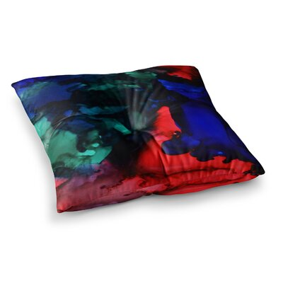 Harmony Abstract Painting by Claire Day Floor Pillow Size: 26 x 26