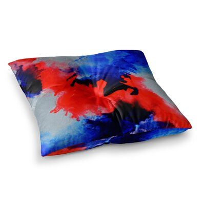 Glory Abstract Painting by Claire Day Floor Pillow Size: 23 x 23
