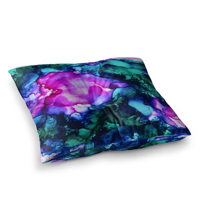 Nebula Abstract Painting by Claire Day Floor Pillow Size: 23 x 23