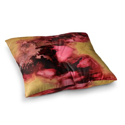 Eloquent Abstract Painting by Claire Day Floor Pillow Size: 26 x 26