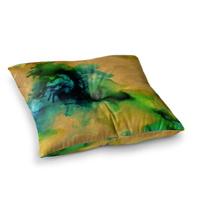 Glamorous Abstract Painting by Claire Day Floor Pillow Size: 26 x 26