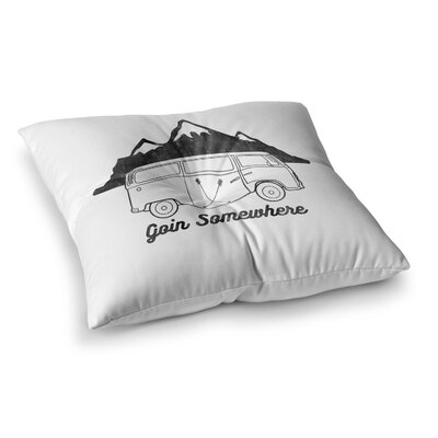 Going Somewhere by Draper Floor Pillow Size: 26 x 26, Color: White