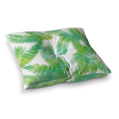 Tropic by Draper Floor Pillow Size: 23 x 23, Color: Green