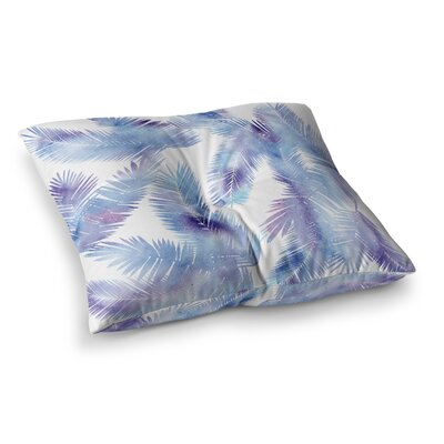 Tropic by Draper Floor Pillow Size: 23 x 23, Color: Blue