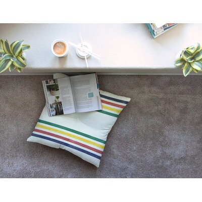 Eagle Scout Stripes by Draper Floor Pillow Size: 23 x 23