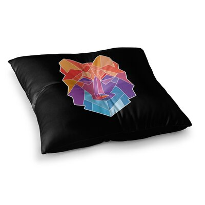Prism Wolf by Draper Floor Pillow Size: 23 x 23