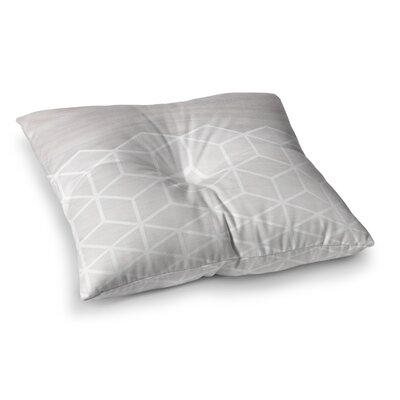Geo Woodgrain by Draper Floor Pillow Size: 23 x 23