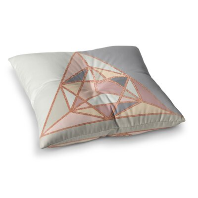 Geometry Pastel Digital by Draper Floor Pillow Size: 26 x 26
