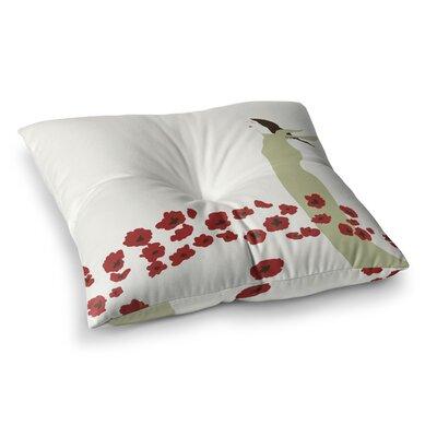 Poppy Field by Mayacoa Studio Floor Pillow Size: 23 x 23