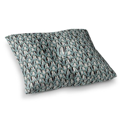 Penguin Colony by Mayacoa Studio Floor Pillow Size: 23 x 23