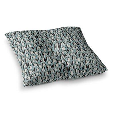 Penguin Colony by Mayacoa Studio Floor Pillow Size: 26 x 26