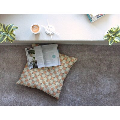 Geometric Tile by Mayacoa Studio Floor Pillow Size: 26 x 26