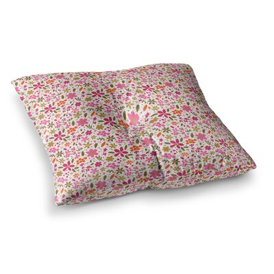 Flowers Garden by Carolyn Greifeld Floor Pillow Size: 26 x 26