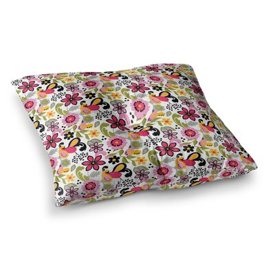 Pretty Florals by Carolyn Greifeld Floor Pillow Size: 26 x 26