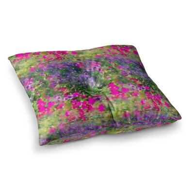 Water Florals by Carolyn Greifeld Floor Pillow Size: 26 x 26
