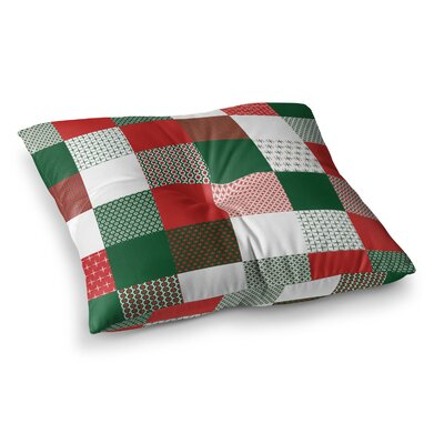 Holiday Patchwork by Carolyn Greifeld Floor Pillow Size: 26 x 26
