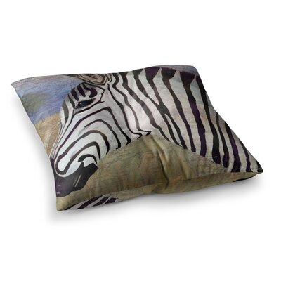 Zebransky by Catherine Holcombe Floor Pillow Size: 23 x 23