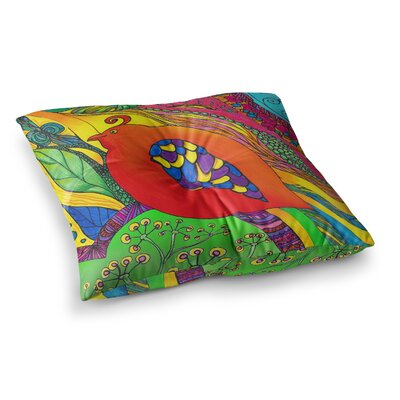 Psycho-Delic Dan by Catherine Holcombe Floor Pillow Size: 26 x 26