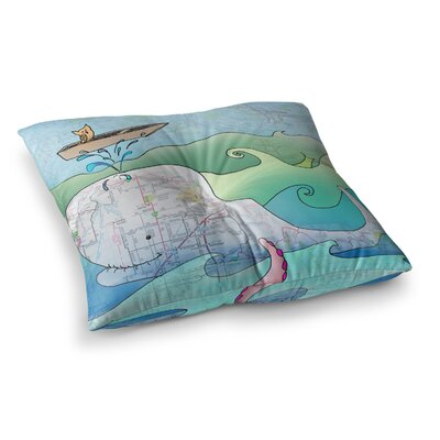 Im on a Boat by Catherine Holcombe Floor Pillow Size: 26 x 26
