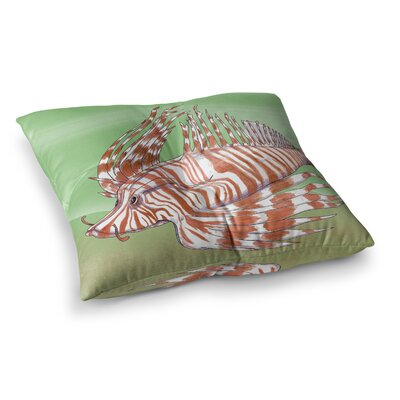 Fish Manchu by Catherine Holcombe Floor Pillow Size: 23 x 23