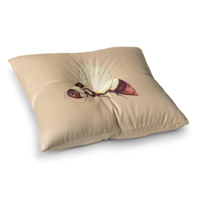 Bee Happy by Catherine Holcombe Floor Pillow Size: 26 x 26