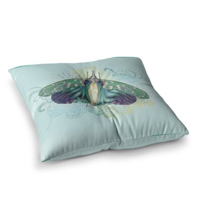 Deco Moth by Catherine Holcombe Floor Pillow Size: 23 x 23