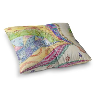 The Painted Quilt by Catherine Holcombe Floor Pillow Size: 26 x 26